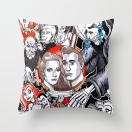 The Fate of the Reaper Throw Pillow