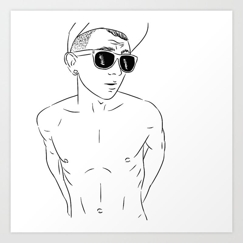 I draw guys keanu art print
