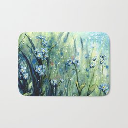Forget me not flowers Bath Mat