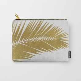Palm Leaf Gold I Carry-All Pouch