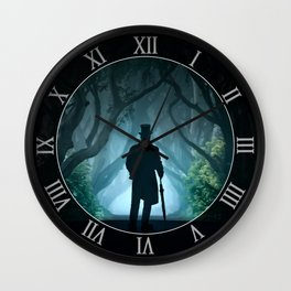Morning visit in cold Dark Hedges Wall Clock