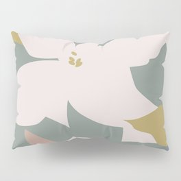 Leafy Floral Collage on Pale Pink Pillow Sham