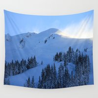 ashton irwin Wall Tapestries featuring Ghosts In The Snow by Jeffrey J. Irwin