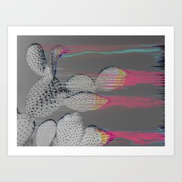 The Cactus Interference Art Print