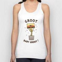 groot Tank Tops featuring Groot, Baby Groot! by Andrew Sebastian Kwan