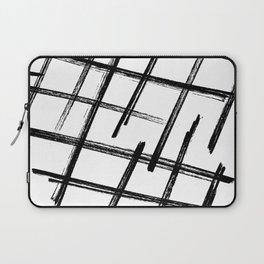 Criss Cross B+W Print Laptop Sleeve