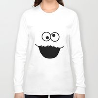 cookie monster Long Sleeve T-shirts featuring Cookie monster by Komrod