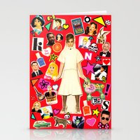 cara Stationery Cards featuring Cara by Neon Wonderland