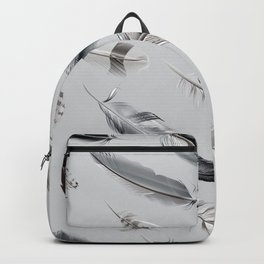 Cosmic Feathers Silver Dust Backpack