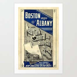 Boston and Albany Railroad Vintage Poster Art Print