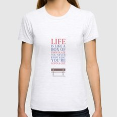 Lab No. 4 - Forrest Gump Movies Inspirational Quotes Poster LARGE Womens Fitted Tee Ash Grey
