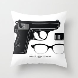 00Q Mission Kit Throw Pillow