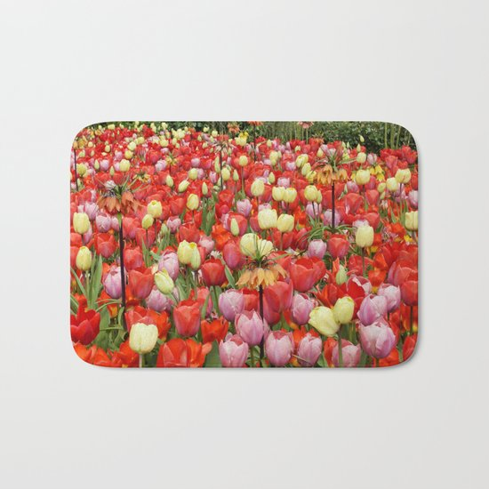 Colorful Tulips #2 Bath Mat