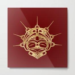 Golden Frog Blood Metal Print
