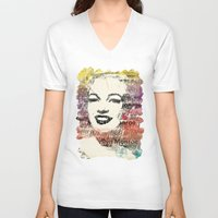 monroe V-neck T-shirts featuring MONROE by Smart Friend