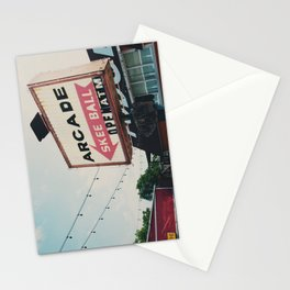 this way to the arcade ...  Stationery Cards