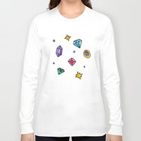 gem Long Sleeve T-shirts featuring Gem by Madi Moon