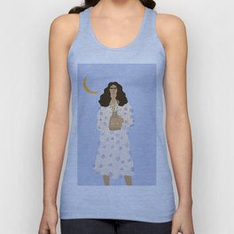 Dreams and Flowers Blue Unisex Tank Top