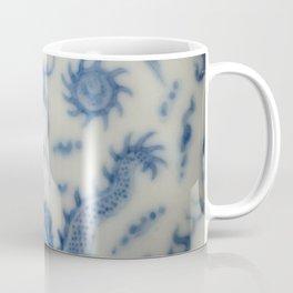 Damask vintage Monaco blue white girly ginger jar floral antique chinese dragon chinoiserie china Coffee Mug
