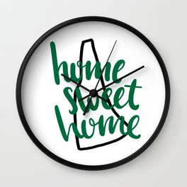 Home Sweet Home New Hampshire Wall Clock