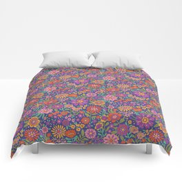 Vintage Flower Power Comforters