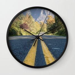 To the Mountains! Wall Clock
