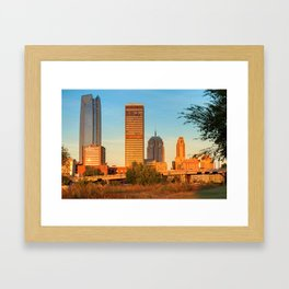 Oklahoma City Skyline Morning Framed Art Print