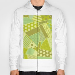 Graphic Leaf Patchwork (Spring Green Bold Colors) Hoody