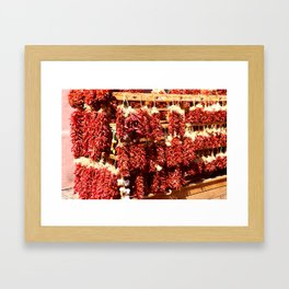 Red Chili Ristra And Gralic Framed Art Print