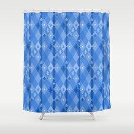 Blue Lily Bear Shower Curtain