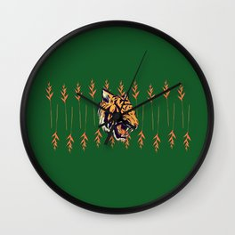 Blood Tiger II Wall Clock