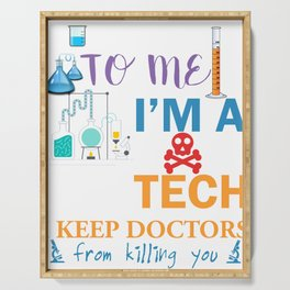 Lab Tech Gift for Laboratory Technician   Design Serving Tray