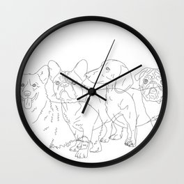 I like dogs more thank humans Wall Clock