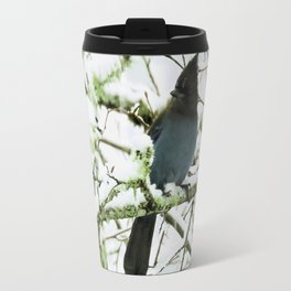 Steller's Jay in the Snow Travel Mug