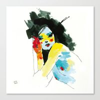 musa Canvas Prints featuring MUSA 292 by conrad roset