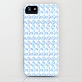 blue flower-flower,bloom,blossom,nature,funny,plants,nature,visage,face iPhone Case