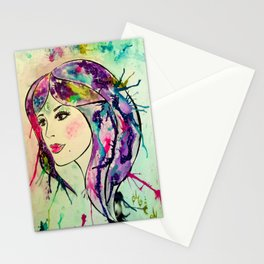 Goddess of The Electric Moon Stationery Cards