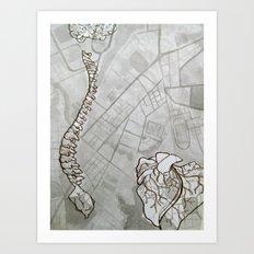 Body Map Art Print