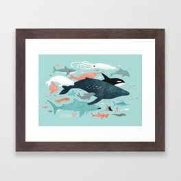 Under the Sea Menagerie Framed Art Print