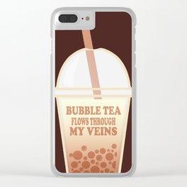 Bubble Tea Veins Clear iPhone Case