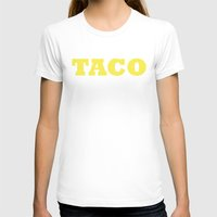 taco T-shirts featuring Taco by Book Ink Boutique