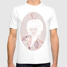 Portrait with Chick Mens Fitted Tee MEDIUM White