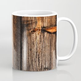 old wood table Coffee Mug