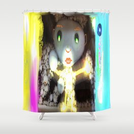 Light Beam Beam Fairy, from Mickeys Art And Design Shower Curtain