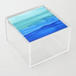 Alcohol Ink Seascape Acrylic Box