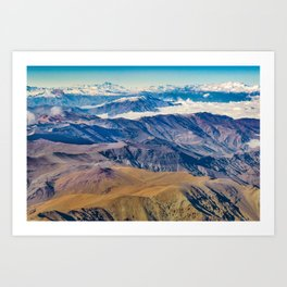 Andes Mountains Aerial View, Chile Art Print