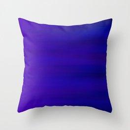 Ultra Violet to Indigo Blue Ombre Throw Pillow