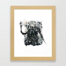 Geralt and Cirilla Framed Art Print