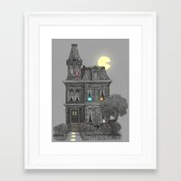 funny Framed Art Prints featuring Haunted by the 80's by Terry Fan