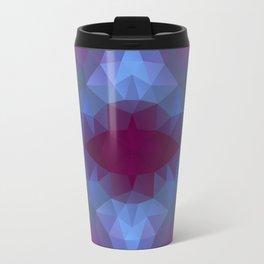 Triangles design in purple colors Travel Mug